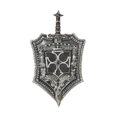 Crusader Knight Sword & Shield Weapon Costume Accessory