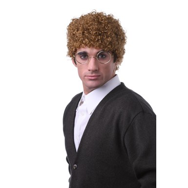 Curly Red Afro Funny White Guy Adult Halloween Wig