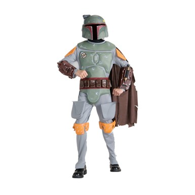 Deluxe Boba Fett Star Wars Kids Halloween Costume