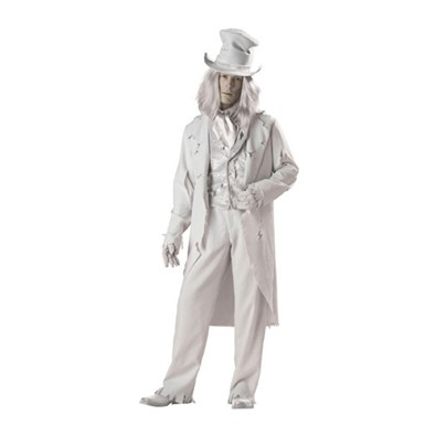 Deluxe Ghostly Gent Adult Mens Halloween Costume