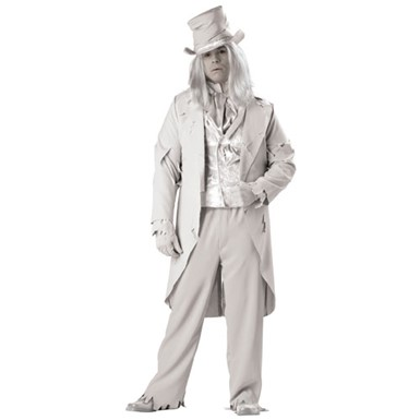 Deluxe Ghostly Gent Plus Size Halloween Costume