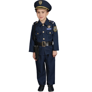 Deluxe Kids Police Officer Costume