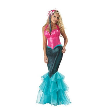 Deluxe Mermaid Adult Womens Halloween Costume