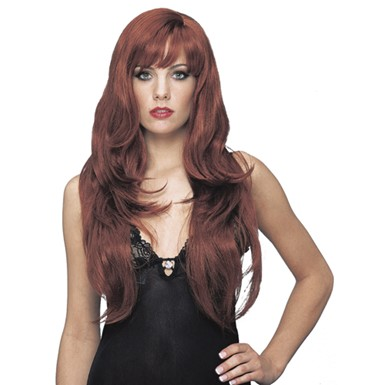 Deluxe Natural Red Wig