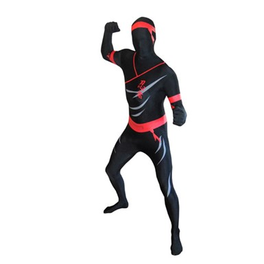 Deluxe Ninja Skintight Bodysuit Morphsuits Costume