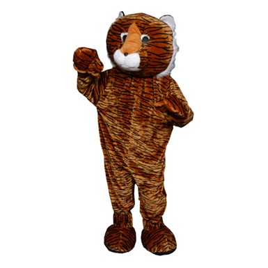 Deluxe Plush Tiger Mascot Adult Halloween Costume