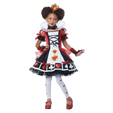 Deluxe Queen of Hearts Costume - Girls