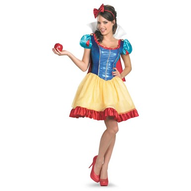 Deluxe Snow White Sassy Fairytale Halloween Costume