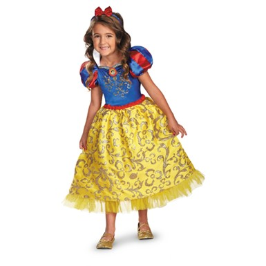 Deluxe Snow White Sparkle Costume - Girls