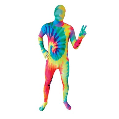 Deluxe Tie Dye Skintight Bodysuit Morphsuits Costume