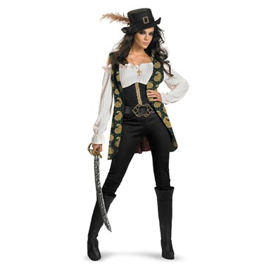 Deluxe Womens Angelica Pirate Costume Plus Size