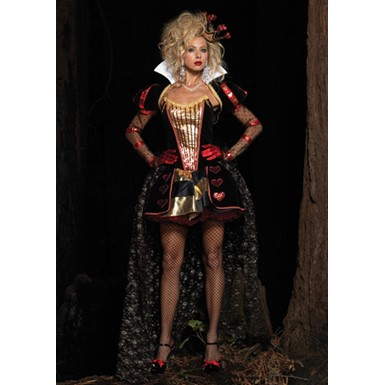 Deluxe Womens Wonderland Queen Halloween Costume