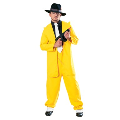 Deluxe Yellow Zuit Suit Mens Halloween Costume
