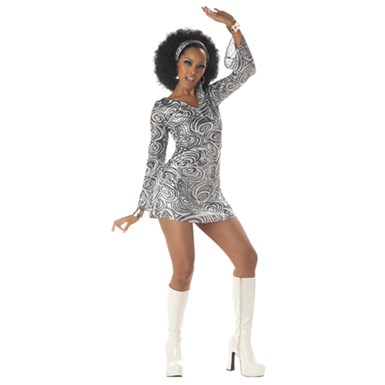 Disco Diva Sexy Adult Womens Halloween Costume