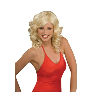 Disco Fox Blonde 70's Wig for Womens Halloween Costume