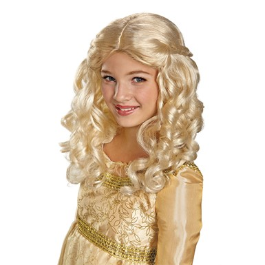 Disney Girls Aurora Halloween Costume Wig
