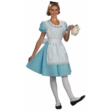 Disney Womens Alice in Wonderland Halloween Costume