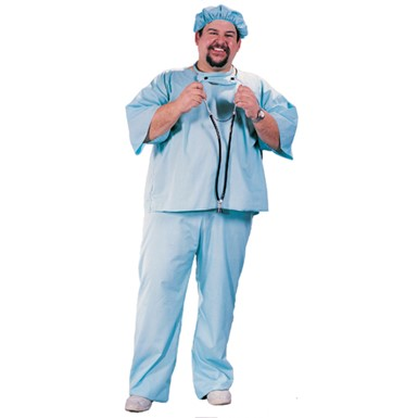Doctor in Scrubs Plus Size Halloween Costume