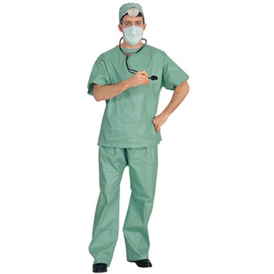 Doctor Surgeon in Scrubs Adult Halloween Costume
