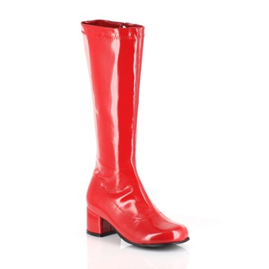 "Dora Girls Red 1.75"" Go Go Boots"