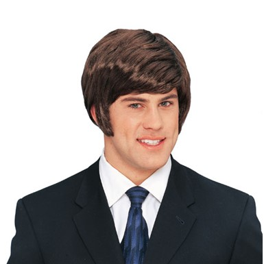 Dude 70s Short Brown Costume Wig