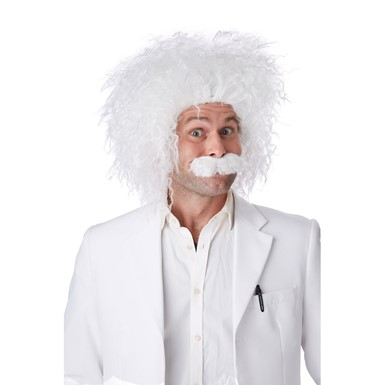 Einstein Halloween Wig and Moustache