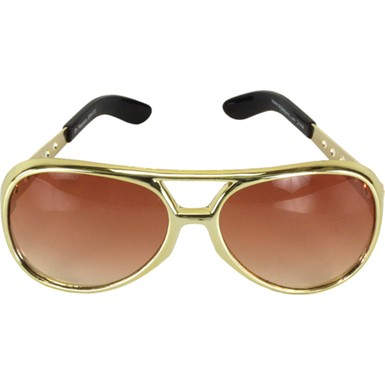 Elvis Costume Glasses - Gold