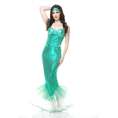 Emerald Mermaid Costume - Womens