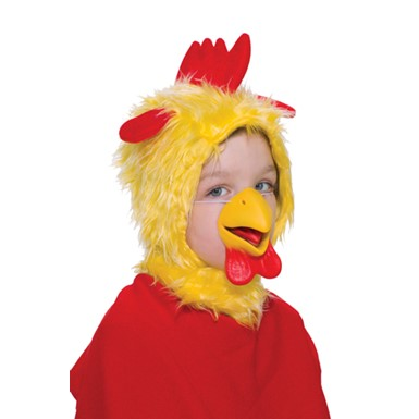 Farm Chicken Child Mask and Hood for Halloween Costume