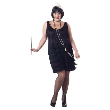 Fashion Flapper Costume - Womens Plus Size