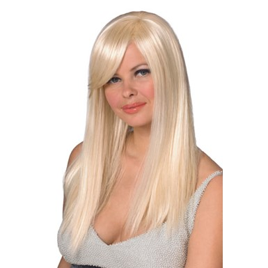 Fashion Queen Long Blonde Halloween Costume Wig