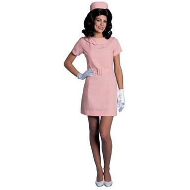 First Lady Pink Jackie O Adult Halloween Costume up to sz 10
