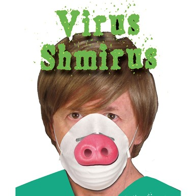 Funny Swine Flu Mask Halloween Costume Accessory
