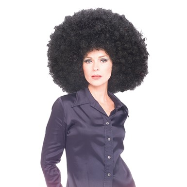 Gigantic Afro Clown Wig Color Black for Costume
