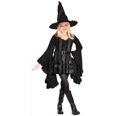 Girl Witch Costume - Stitch Witch Girl