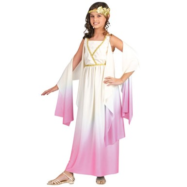 Girls Athena Costume - Pink Grecian Halloween Dress