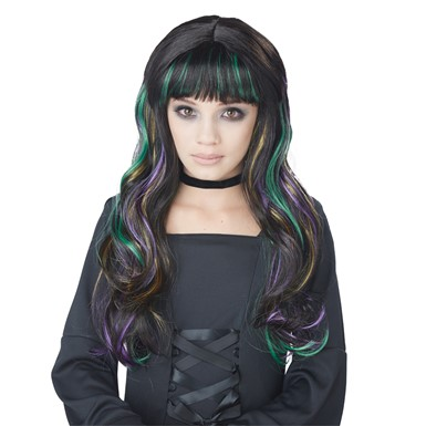 Girls Bewitching Witchcraft Colorful Costume Wig