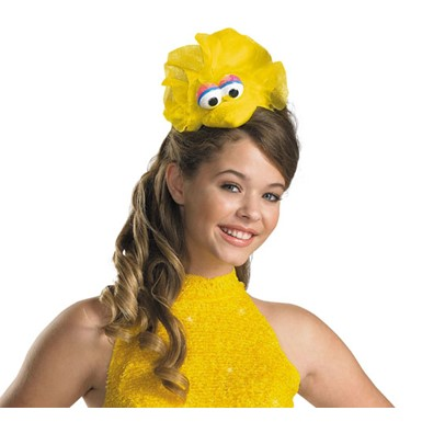 Girls Big Bird Sesame Street Costume Headband Accessory