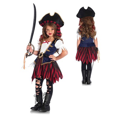 Girls Caribbean Pirate Halloween Costume