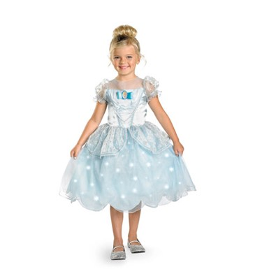 Girls Cinderella Light-Up Costume