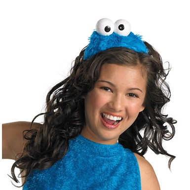 Girls Cookie Monster Headband Halloween Accessory
