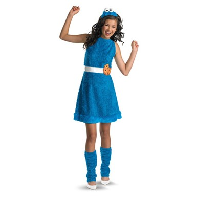 GIrls Cookie Monster Sesame Street Halloween Costumes