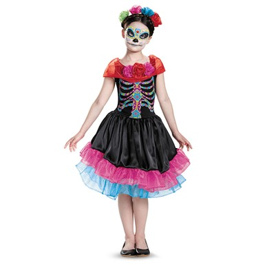 Girls Day Of The Dead Mexican Costume