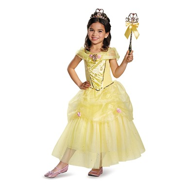 Girls Deluxe Belle Costume