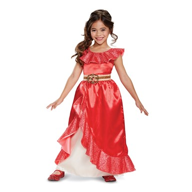 Girls Deluxe Elena Adventure Outfit Princess Costume