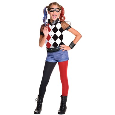 Girls Deluxe Harley Quinn Halloween Costume