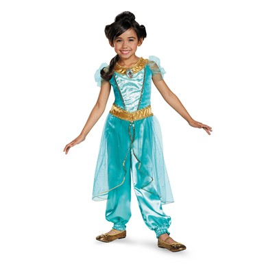Girls Deluxe Jasmine Halloween Costume Disney Princess Jasmine Costume