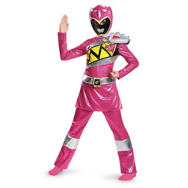 Girls Deluxe Pink Power Ranger Dino Charge Costume
