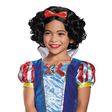 Girls Deluxe Snow White Wig