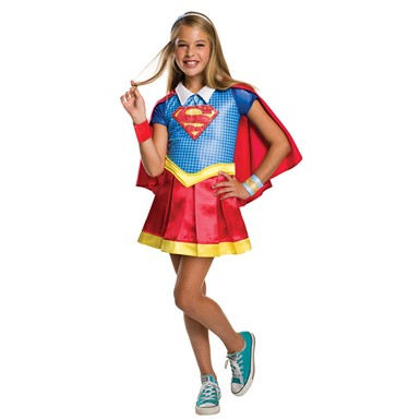 Girls Deluxe Supergirl Halloween Costume
